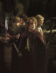 10 4 Hobbits 233x300 Властелин Колец   Постеры