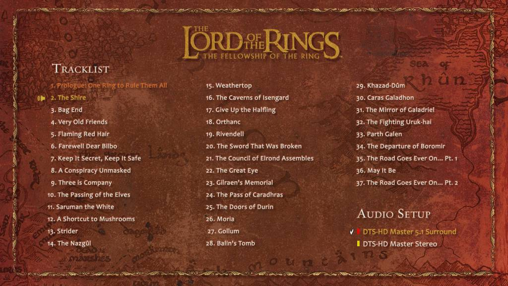 bd menu 1024x576 Полные записи саундтрека к ВК: Братство Кольца   фотообзор CD!